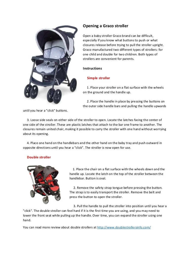 Graco Infant Car Seat Stroller Instructions Opening A Graco Stroller