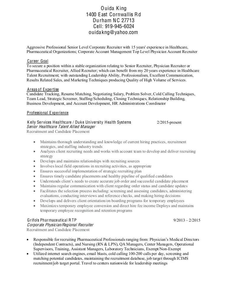 physician recruiter resume - Josemulinohouse