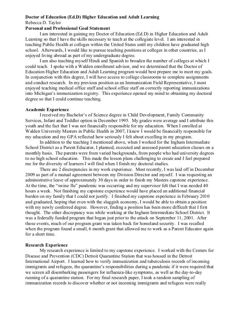 sample goal statement - Romeolandinez - goal statement for graduate school