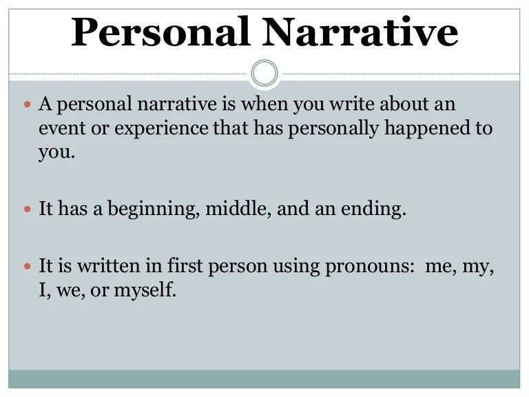 how do you write a narrative essay