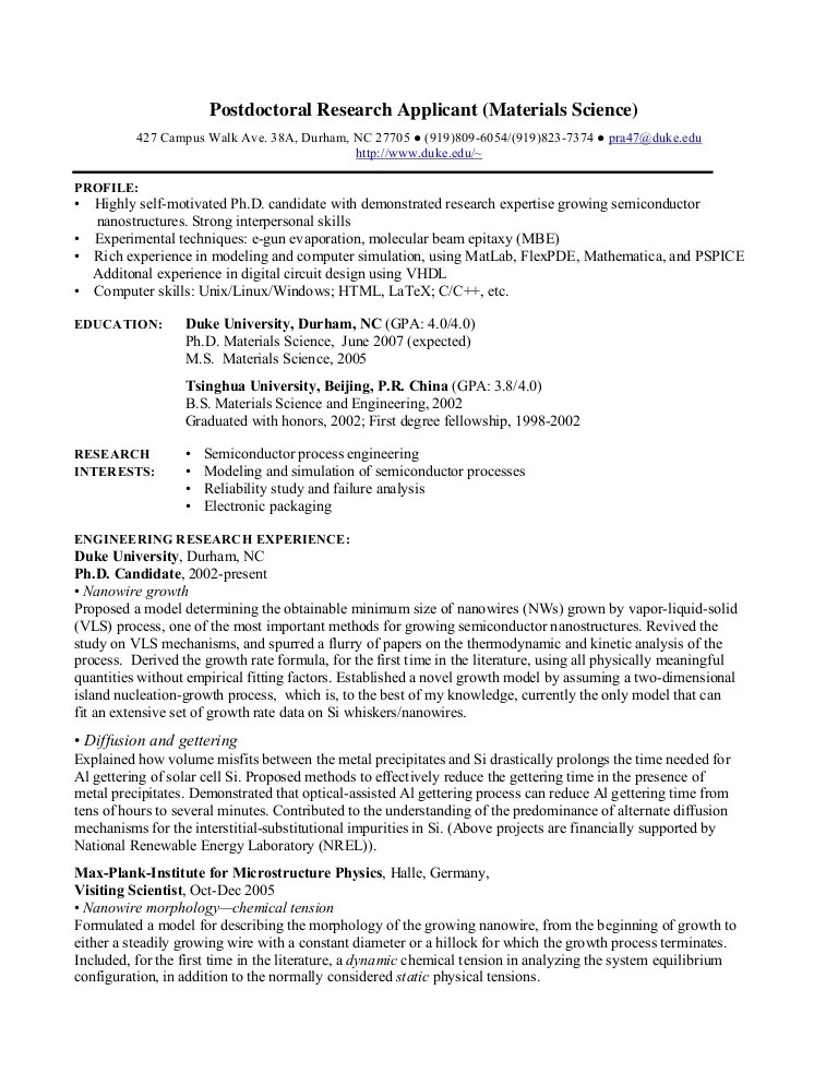 research scholar resume template