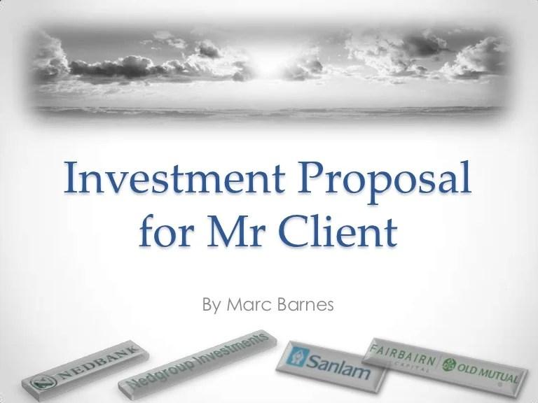 sample investor proposal - Gurekubkireklamowe