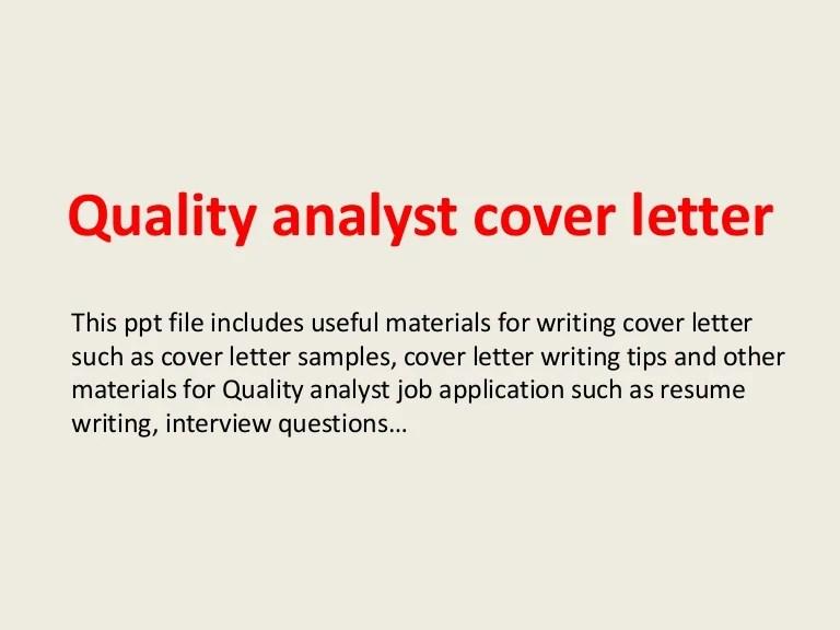 sample qa analyst cover letter - Onwebioinnovate - qa analyst sample resume