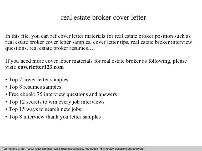 sample real estate broker cover letter - Onwebioinnovate - real estate broker sample resume