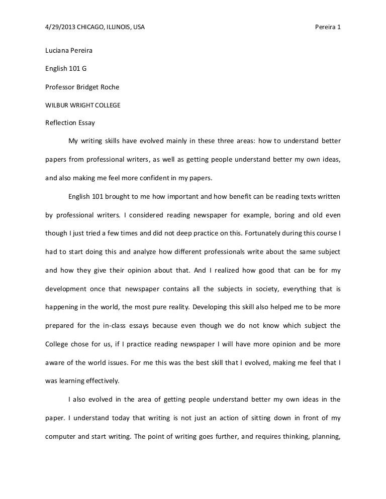 reflection essay - Romeolandinez - reflective analysis essay examples