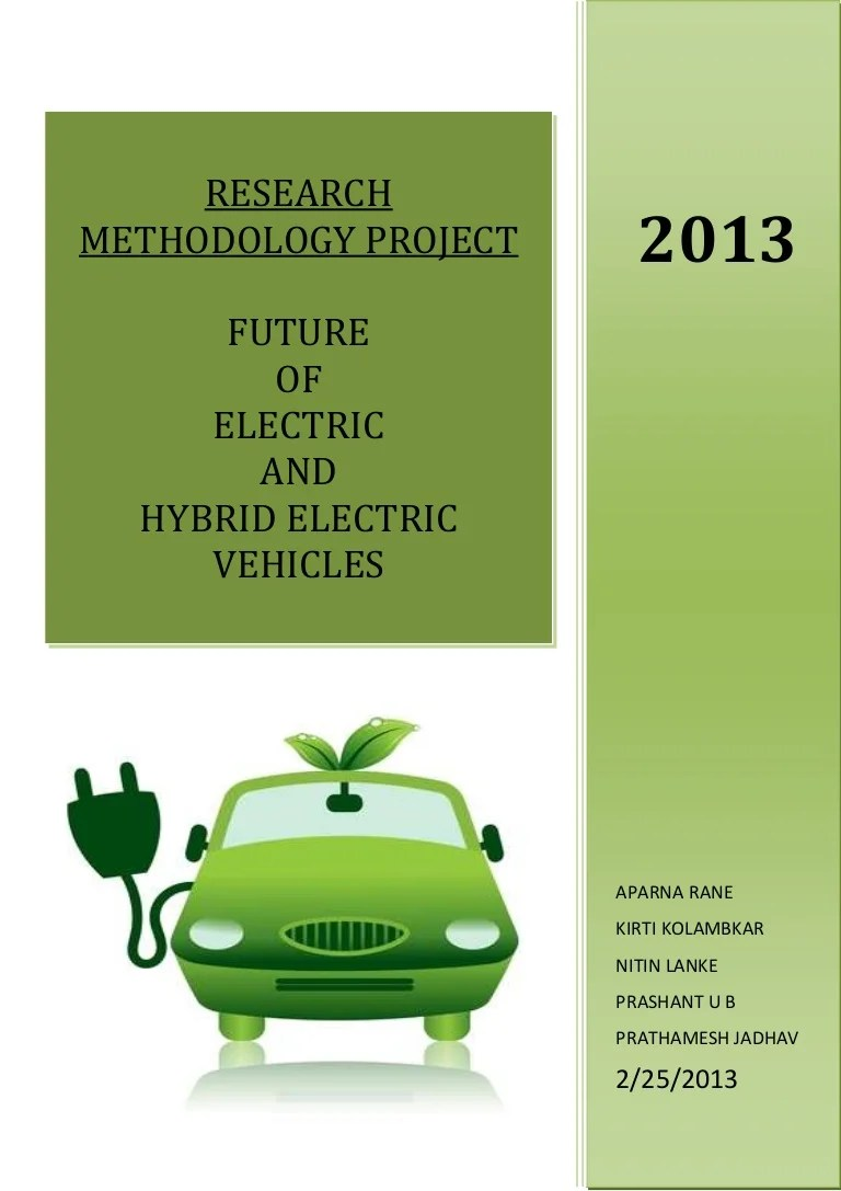 For Electric And Hybrid Vehicles Project Report On Electric Vehicles