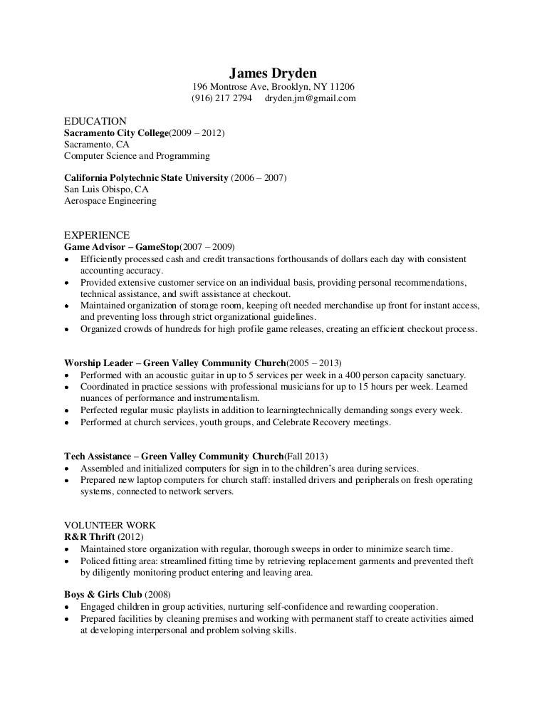 church resumes - Doritmercatodos - what do a resume look like