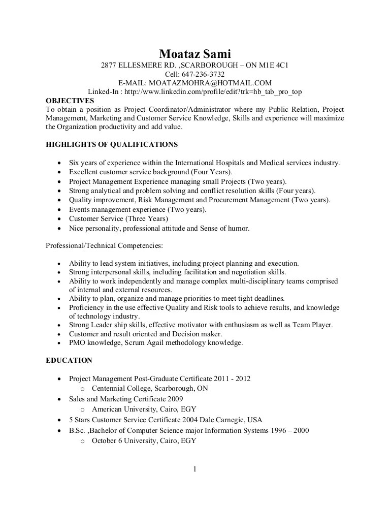 sample of ward clerk resume