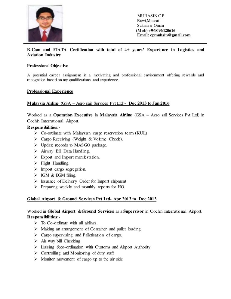 cv format for airline ground staff - Funfpandroid - ground attendant sample resume