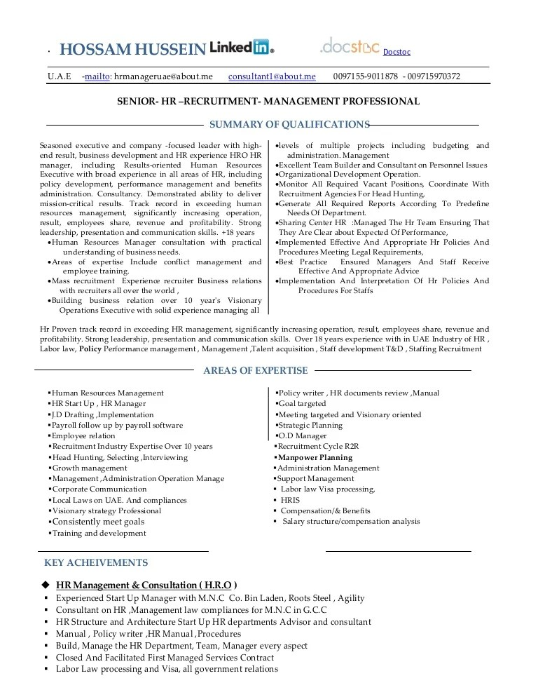 hr consultant resumes - Minimfagency