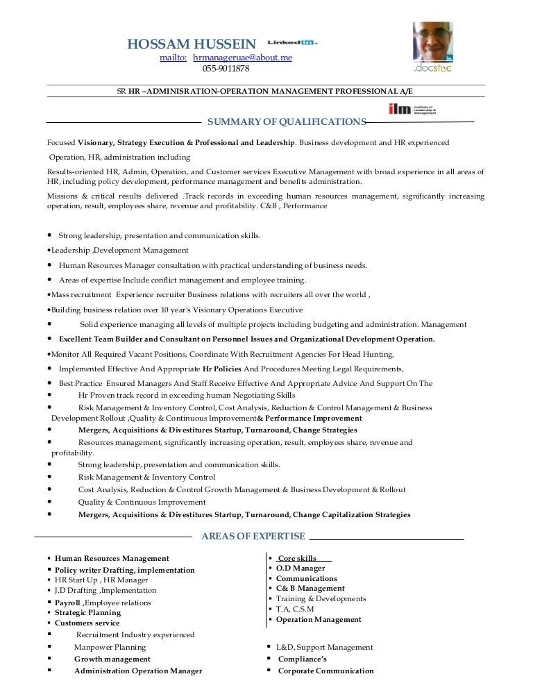 sample hr resume india
