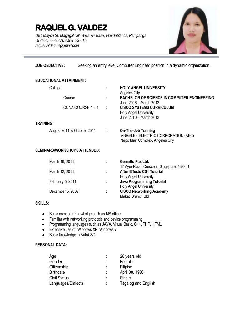 sample ng resume - Yelommyphonecompany - example ng resume