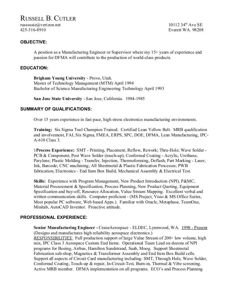 Electronic Assembler Resume Sample resume for electronic assembler