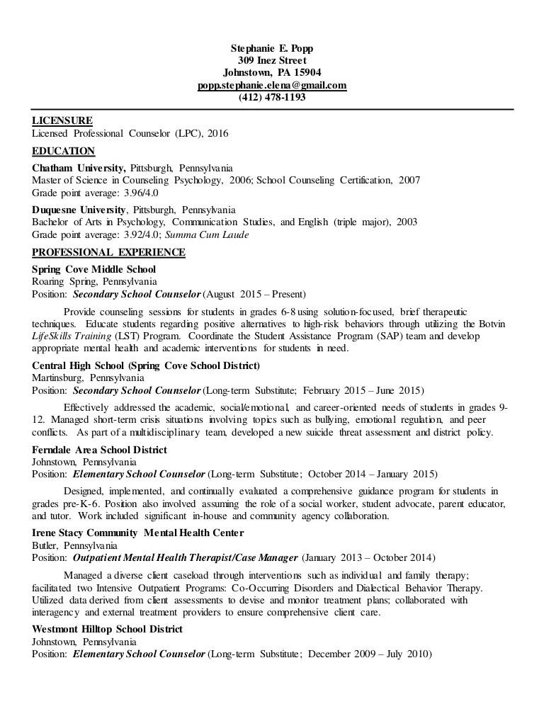 licensed professional counselor resume sample - Akbagreenw - licensed psychologist sample resume