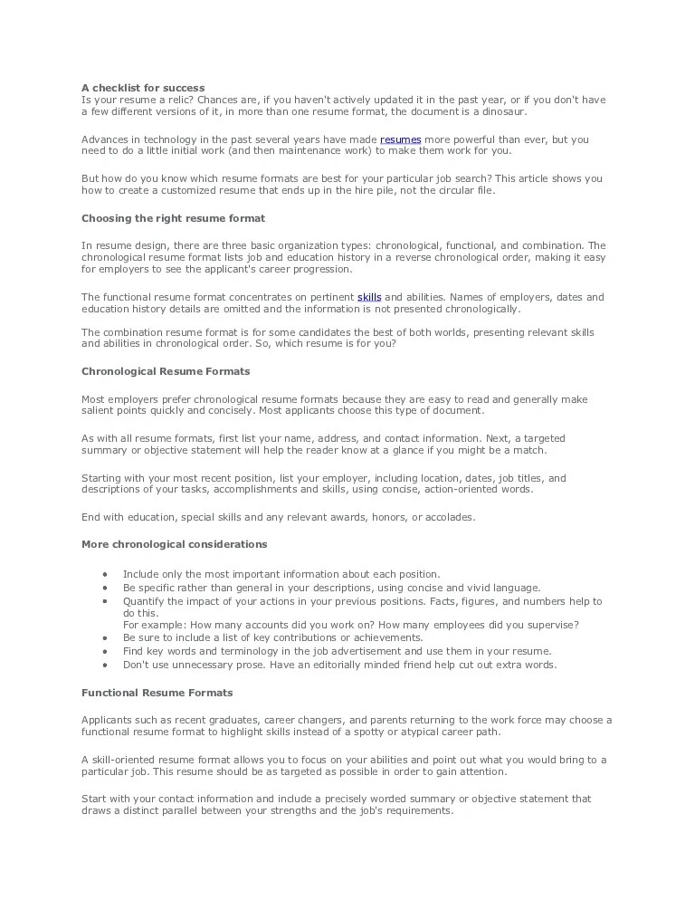how to make a proper resume format - Pinarkubkireklamowe