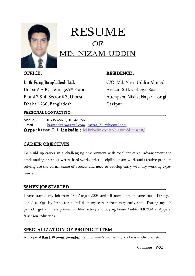 resume example international experience