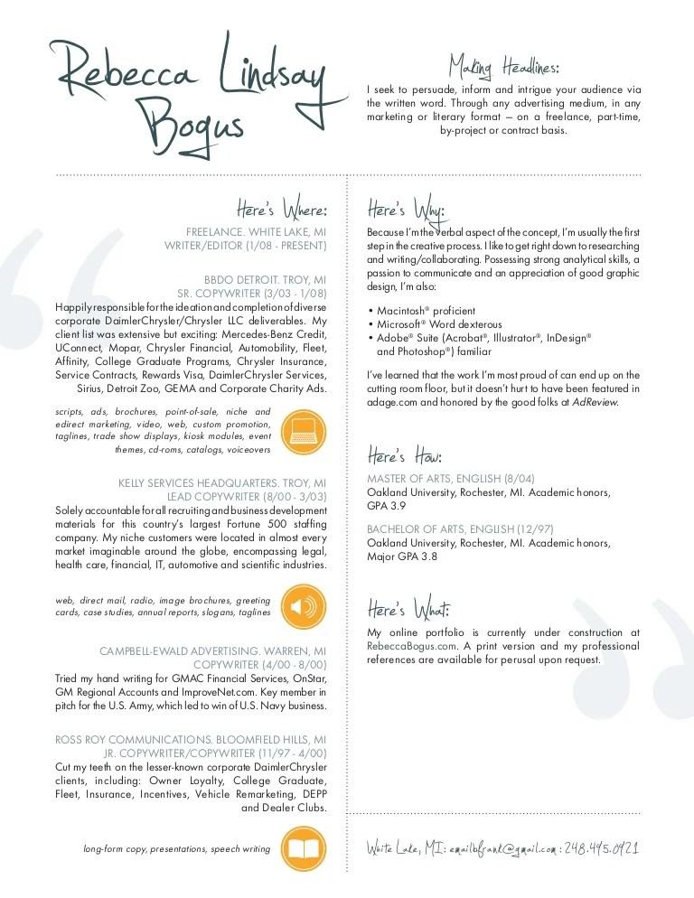 copywriting cv - Yelomdigitalsite