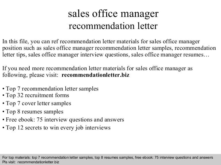 letter of recommendation for office manager - Yokkubkireklamowe