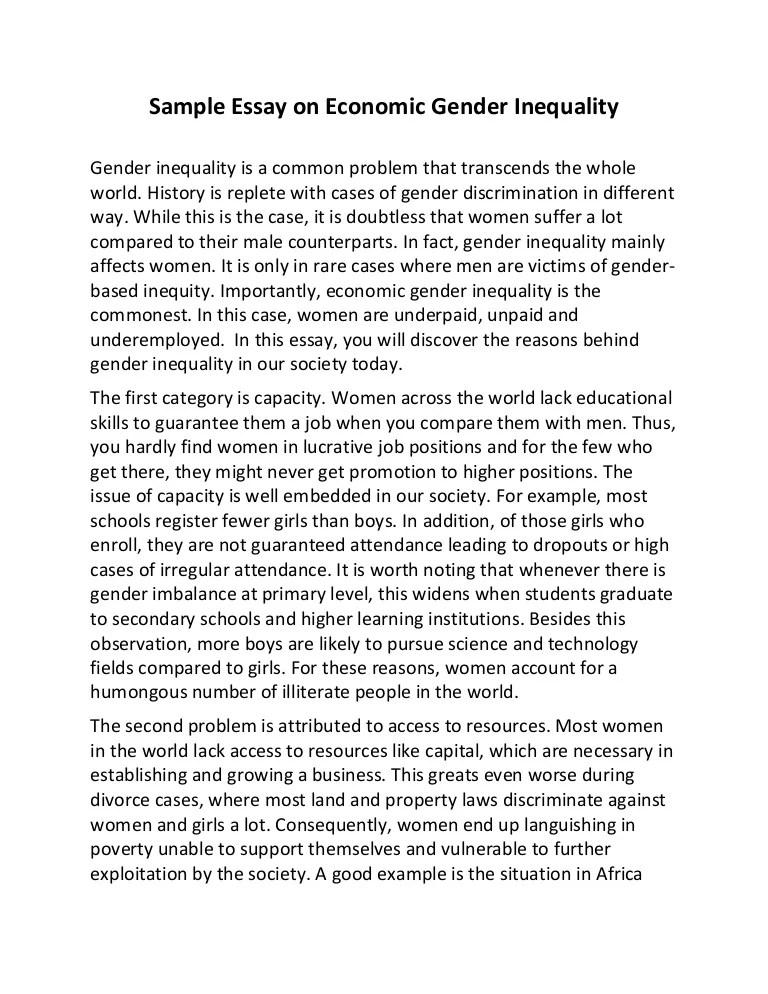 essay on gender inequality - Boatjeremyeaton - gender inequality essay