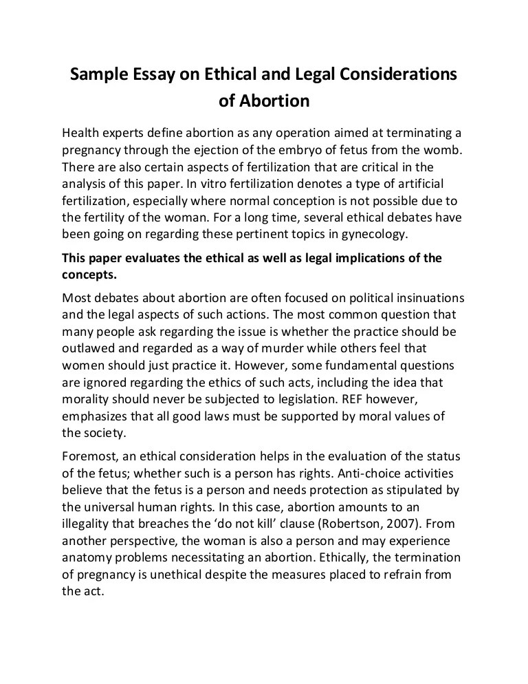 against abortion essay