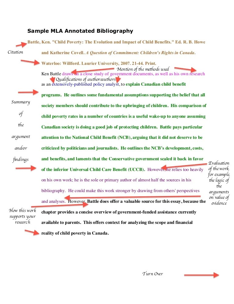 mla annotated bibliography samples - Maggilocustdesign - annotated bibliography template