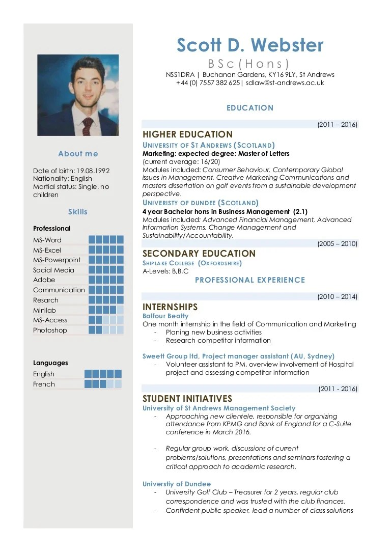 as you can see from my cv