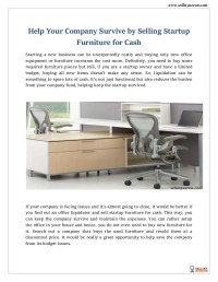 Sell Startup Furniture For Cash - Sell My Aeron