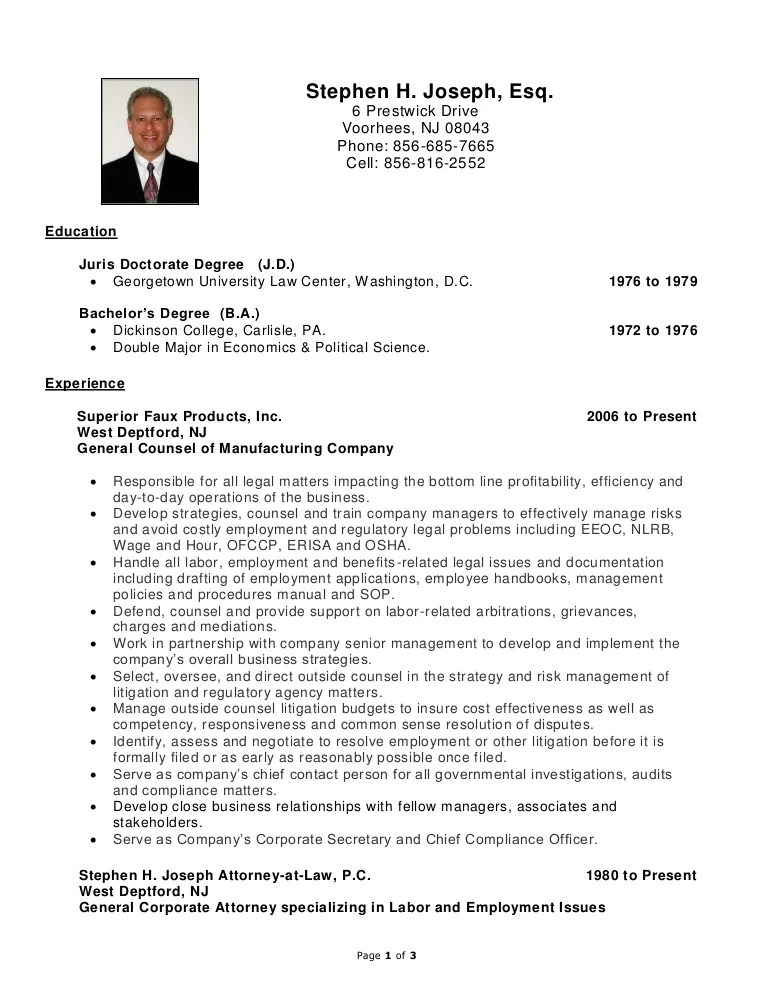 labour law expert cv anglais