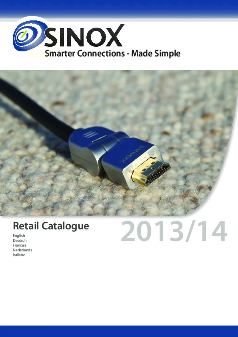 Coaxkabel Action Catalogo Cables Sinox 2013