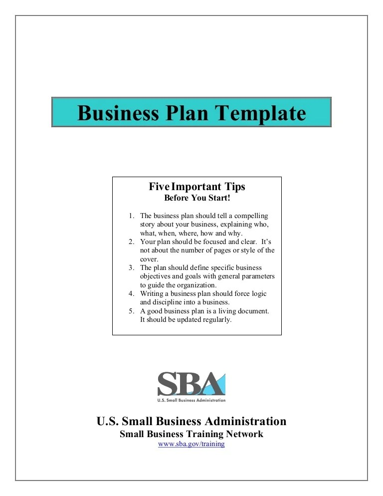 small business plan template word - Minimfagency - business plan free template word