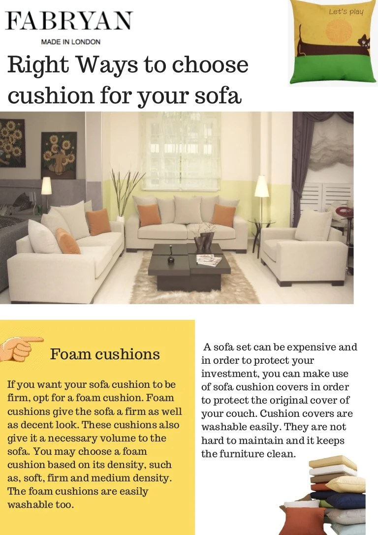 Best Sofa Cushions For Sale At Fabryan