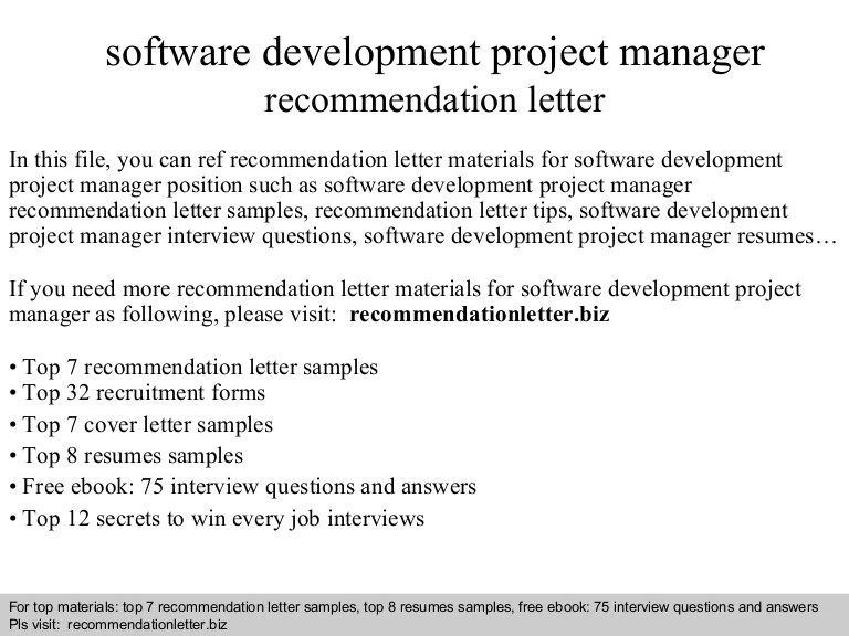 recommendation letter for project manager job - Towerssconstruction