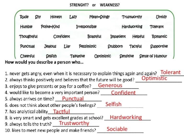 list of personal strengths - Towerssconstruction