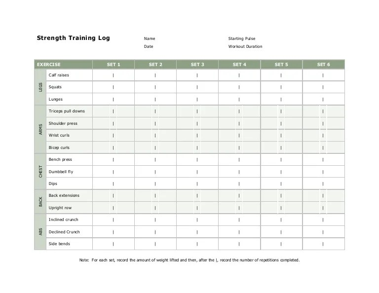 workout log book template - Josemulinohouse
