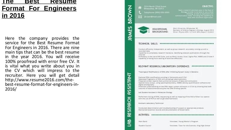 recommended resume format - Baskanidai