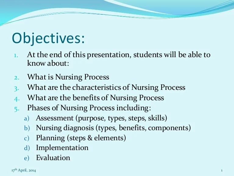 nursing objectives