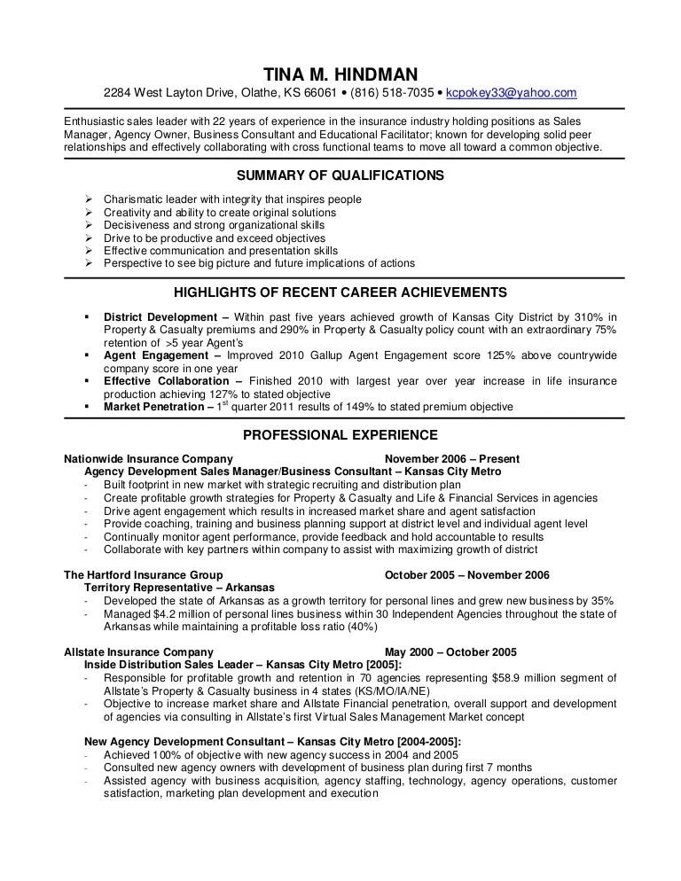 insurance agent resume objective examples - Josemulinohouse - insurance sales resume sample