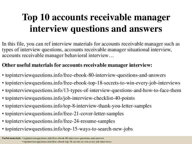 accounts receivable sample resumes - Alannoscrapleftbehind