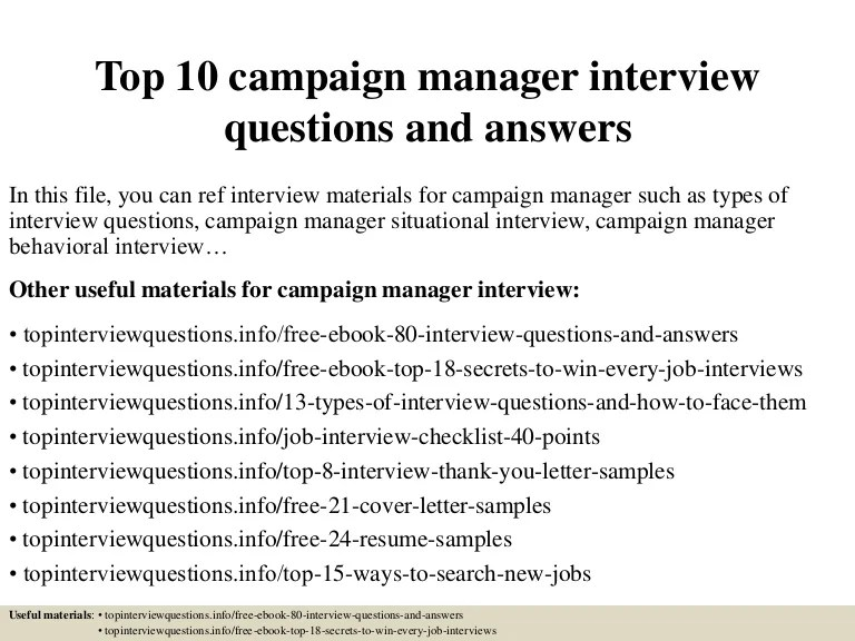 Campaign Manager Cover Letter   Guvesecurid. Campaign Manager Cover Letter    Guvesecurid   Capital Campaign Manager Sample Resume .