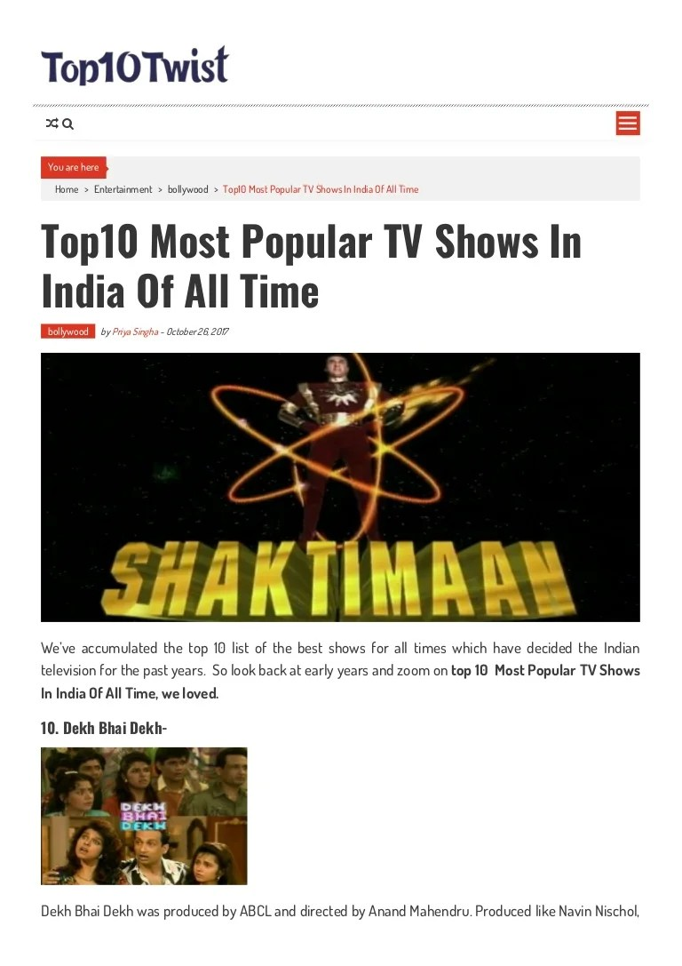 Best Dekk Top10 Most Popular Tv Shows In India Of All Time