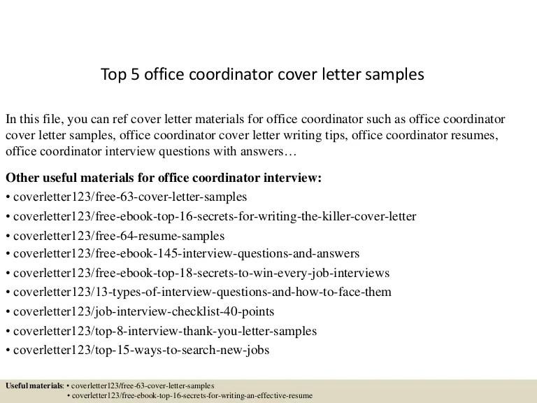 office coordinator resumes - Alannoscrapleftbehind