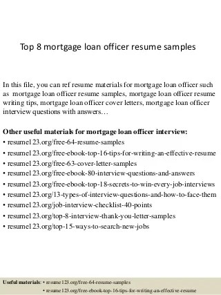 Beautiful Mortgage Loan Consultant Cover Letter Contemporary ...