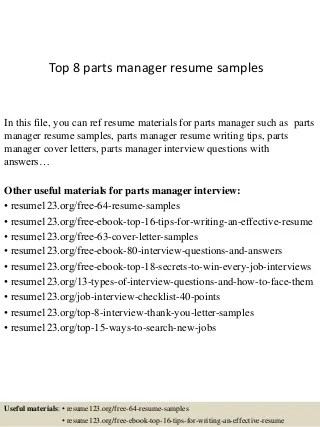 Customizable Online Assignment - Write My Physics Paper I Pay - automotive parts manager sample resume