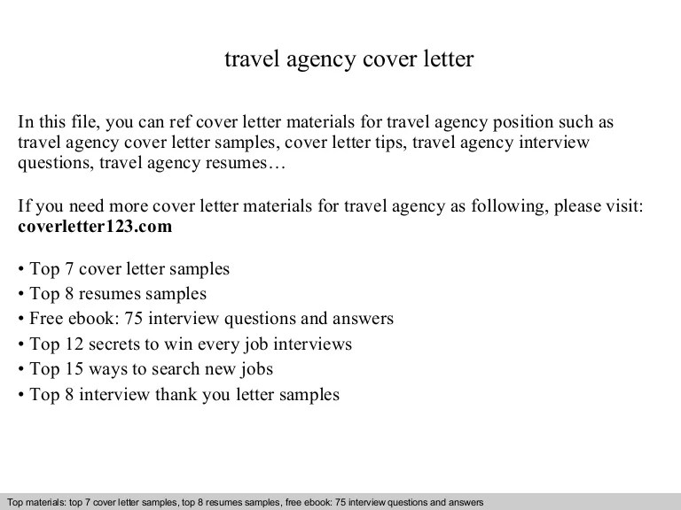 travel agent cover letters - Intoanysearch