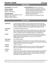 Forms Of Government Worksheet - Rcnschool