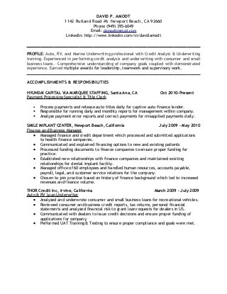 Market risk analyst resume - credit risk analyst sample resume