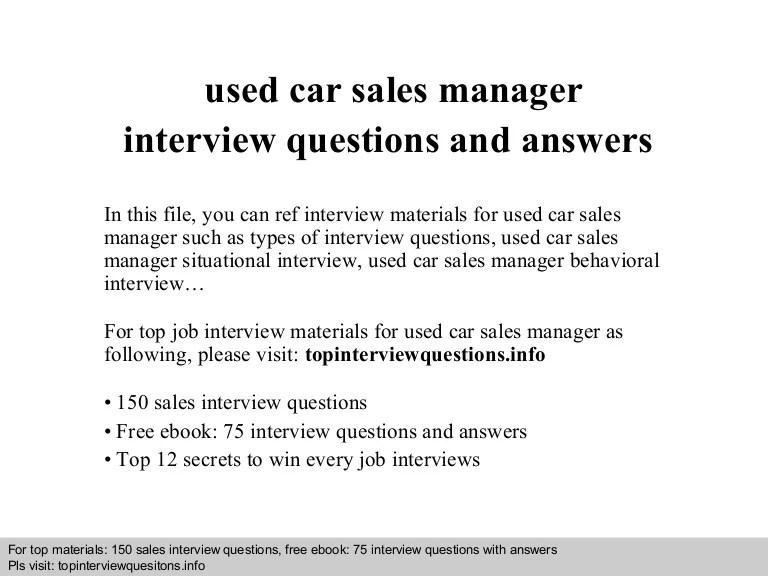 auto sales manager job description - Onwebioinnovate