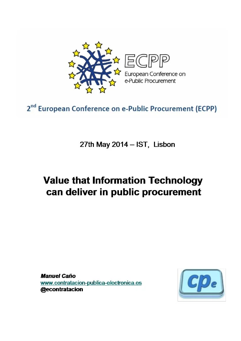 Electronica Medium Font Value That It Can Deliver To Public Procurement 5 Eng Manuel Canno