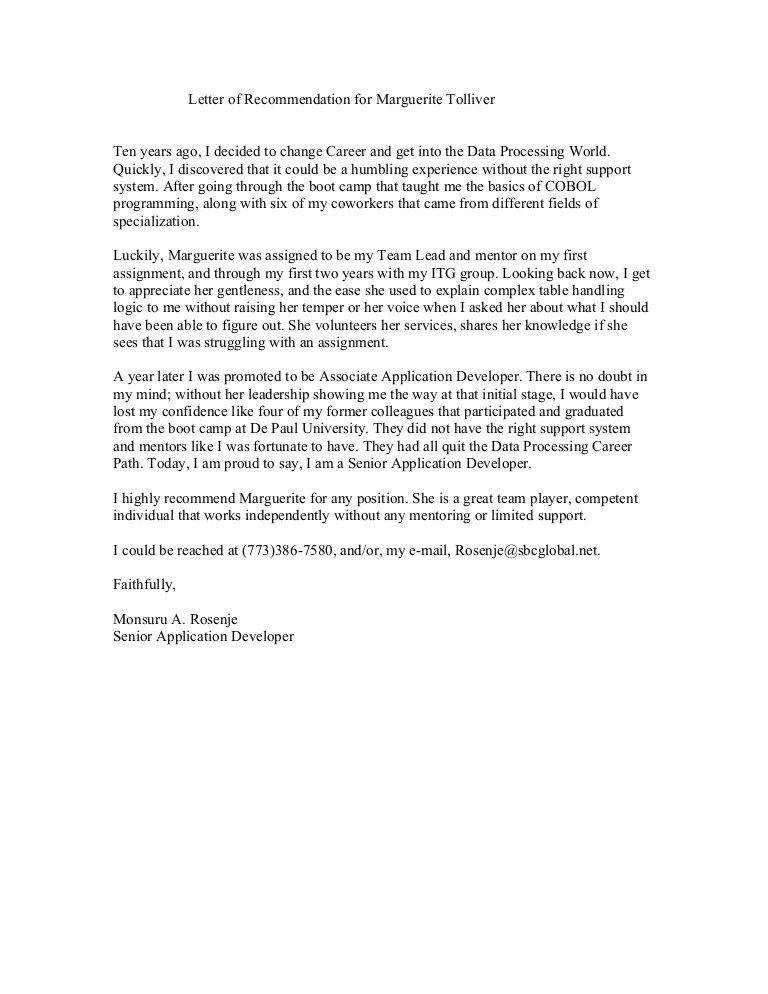 letter of recommendation for coworker examples - Romeolandinez - letter of recommendation for coworker