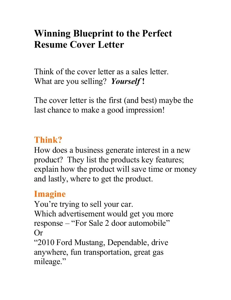 the perfect cover letter - Josemulinohouse